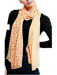 Prettystern - 190cm hand rolled pure Silk Scarf with colourful leo Leopard Print, in 4 colours available