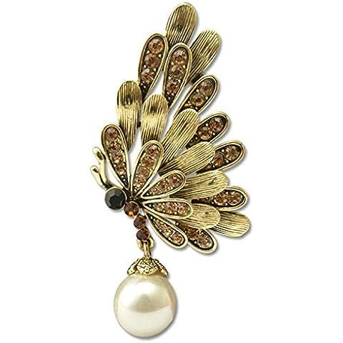 AnaZoz Joyería de Moda Broche de Mujer Acero Inoxidable Broche Mariposa Broches y Pins Para Mujer Broche de Boda Color