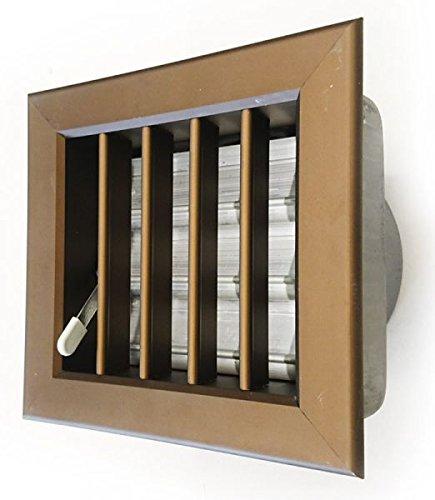 Rejilla de ventilación en color bronce, empotrable, 180x 180mm, punta de 140mm,...
