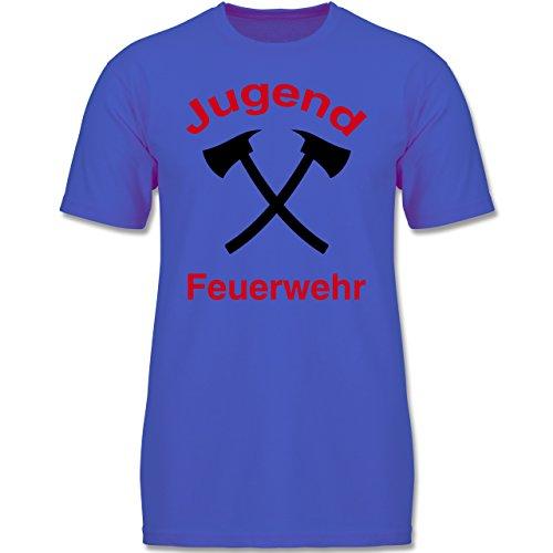Shirtracer Feuerwehr Kind - Jugend Feuerwehr - 164 (14-15 Jahre) - Royalblau - F140K - Jungen T-Shirt (Fruit Of The Loom-jugend-t-shirts)