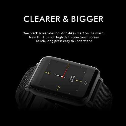 Teepao monitor de ritmo cardíaco, podómetro, reloj inteligente impermeable con monitor de presión arterial, contador de pasos, seguimiento del sueño, reloj inteligente de pantalla grande para hombres y mujeres