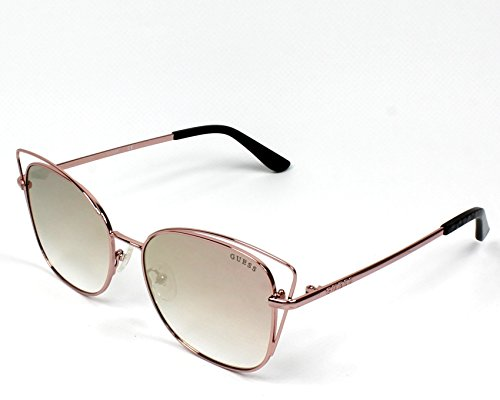Guess Unisex-Erwachsene GU7528 28Z 56 Sonnenbrille, Gold (ORO Rosa Lucido/Specchiato)