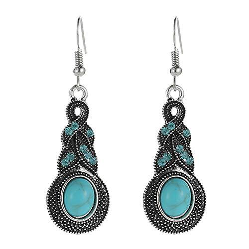 Sukkhi American Diamond Drop Earrings for Women (Silver)(E81076)