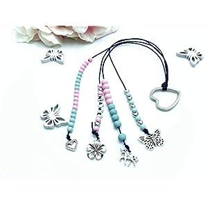 Rechenkette Mädchen, Rechenkette zartrosa türkis, Rechenkette Name, Einschulungsgeschenk, 1. Schultag Geschenk Mädchen