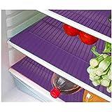 Deerosita Plastic Fridge Mat Refrigerator Drawer Mat/Fridge Mat/Place Mat Set Of 6 Pcs (12 * 17 Inches) Multi Purpose Use { Random Color Will Be Sent As Per Availability}