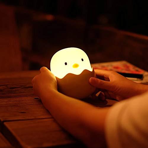 Lámpara Buenas Noches Pollito. Sin cables. Luz cálida para dormir mejor o leer un libro con los niños...