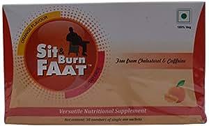 Sit & Burn Faat Orange Flavour Sugar Free Fat Burner - 30 Sachets