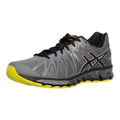 ASICS Men's Gel-Quantum 180 TR Running Shoes, Monument/Black/Sulpher Spring, 8 D(M) US -