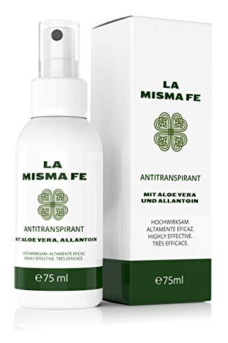 LA MISMA FE® Antitranspirant Aluminium Deo Spray 75ml starkes Deodorant gegen Schwitzen und Achselnässe für Männer und Frauen - Protection Anti Perspirant Deodorant Spray