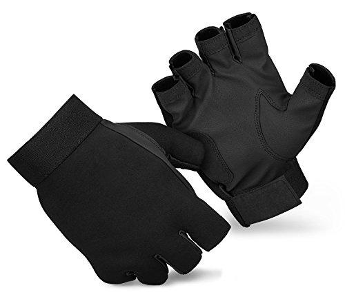 Angelhandschuhe Anglerhandschuhe fingerlos aus Neopren mit Synthetikleder
