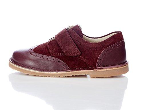 RED WAGON Jungen Budapester-Schuhe mit Glatt- und Rauleder, Braun (Brick Colour Ref 616), 20.5 EU