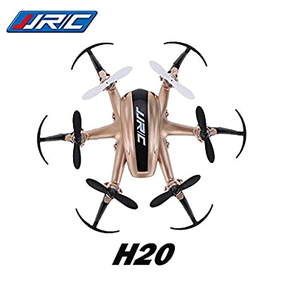 3D Roll RC Quadcopter, Koiiko JJRC H20 Mini 4 Channels Drone Headless RTF Ready-To-Fly R/C Aircraft 6-Axis Gyro Helicopter with 2.4G Wireless Remote Contro and LED Lighting for Night Flying
