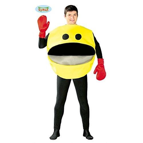 gelber Nimmersatt - Kostüm für Herren Gr. M/L, (Man Kostüm Pac Halloween)