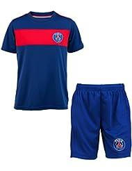 Maillot + short PSG - Collection officielle Paris Saint Germain - Taille enfant garçon