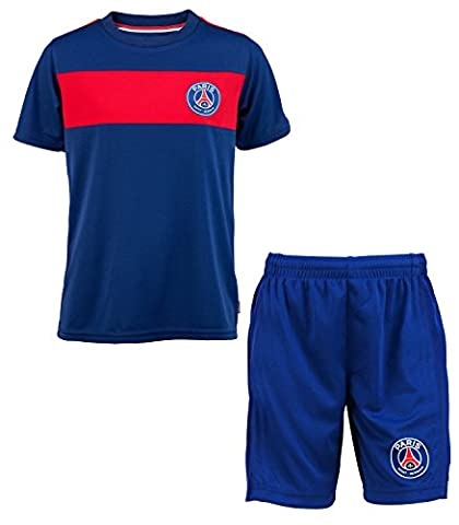 Jersey + Shorts Kids Official Collection Paris Saint Germain PSG – Football League 1, boys, blue, 6