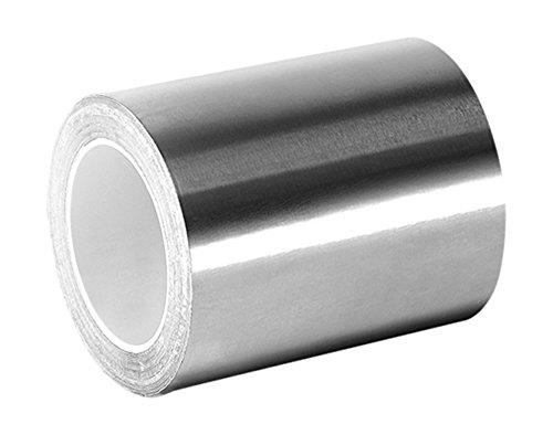 TapeCase 2-3-3361 in argento, ad alta temperatura in acciaio INOX/acrilico-Nastro di foglio in alluminio, (2 yd. 5,08 cm x 3 m, spessore: 0,01 (0,0038 cm, lunghezza (3 7,62 cm, larghezza 5,08 cm (2