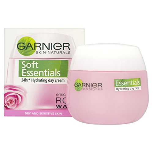 Garnier Soft Essentials Day Cream Enriched with Rose Water, 50ml