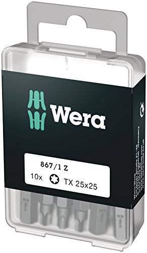 Wera Bit-Sortiment, 867/1 TX 25 DIY, TX 25 x 25 mm (10 Bits pro Box), 05072409001