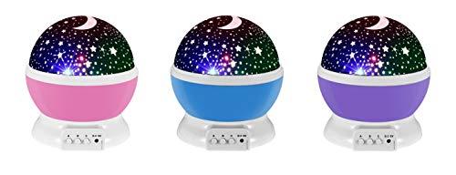 tempo di saldi Lampada Notturna Illuminazione Rotante Luna E Stelle Proiettore Per Bambini