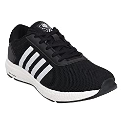 Campus MenS Black Mesh Running Shoes (6)