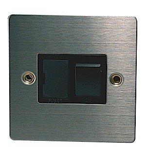 Chrome Light Switch (Chrome Light Switch Switches Dencon 13A Fused Spur Satin Steel Single Gang)