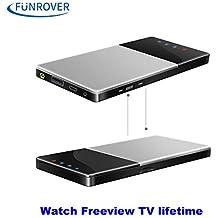 funrover WiFi TV Box DVB-T/T2TV Digital HD para el coche/Home/al aire libre portátil IOS 10Android 5.1estéreo de radio de coche sintonizador de TDT Receptor con Antena