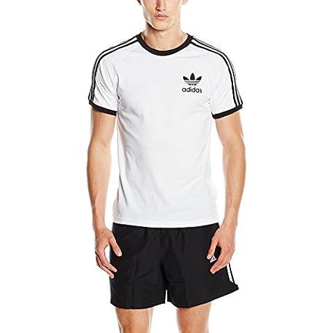 adidas California - Camiseta para hombre Blanco blanco Talla:M