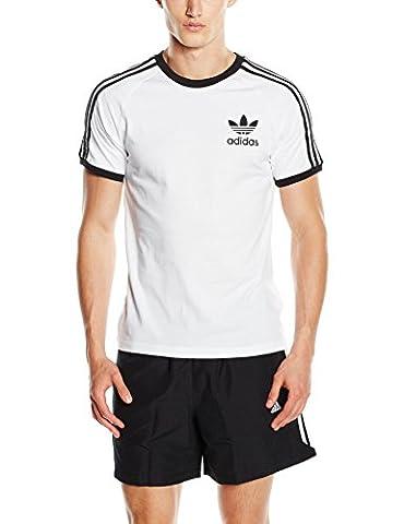 adidas Herren T-shirt California, White, M, AJ8833