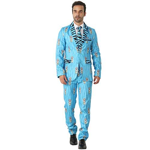 EraSpooky Männer Blazer Tiger Anzug Party Kostüm