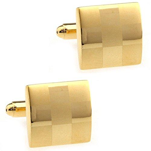 CIFIDET Gold Laser Gravieren Carve Manschettenknöpfe Fashion Herren Hemd Manschettenknöpfe mit Geschenk-Box