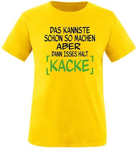 EZYshirt® Das kannste schon so machen aber dann isses halt kacke Herren Rundhals T-Shirt Gelb/ Schwarz/ Grün