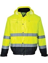 Portwest HI VIS 2Tone Safety Bomber Jacket High Visibility Workwear S - 3XL S266