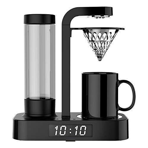 JIAYIBAO Kaffeemaschine LebensmittelqualitäT Pp Uhr Automatische Mini Haushalt (Schwarz 252,2 *...