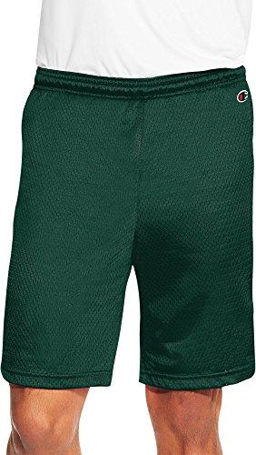 Champion Herren POCKETLESS Mesh 22,9cm Shorts, Herren, Forging Green (Mesh Champion Grün Shorts)