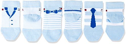 Tommy Hilfiger Baby-Jungen Socken TH Dressed Giftbox 3P, 3er Pack, Blau (Baby Blue 397), 19-22