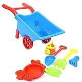 STOBOK 7pcs niños Playa Juguetes de Arena Conjunto Carro de Carro Juego de Playa Playset Sandbox Juguetes (Azul)