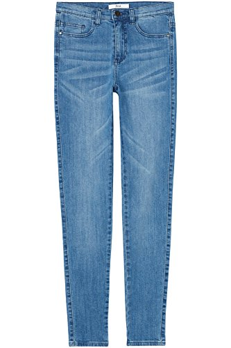 FIND Jeans a Vita Alta Donna Blu (Light Wash)
