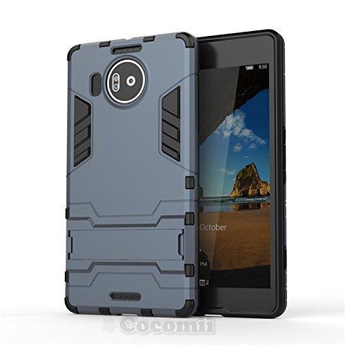 Cocomii Iron Man Armor Microsoft Lumia 950 XL Hülle [Strapazierfähig] Taktisch Griff Ständer Stoßfest Gehäuse [Militärisch Verteidiger] Case Schutzhülle for Microsoft Lumia 950 XL (I.Black)