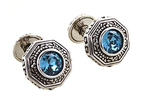 Gudeke Rome Retro Pattern Double French Cufflinks Mosaic High Zircon Rhinestone Crystal Cuff Links Rétro Motif Double Français Boutons de manchette mo