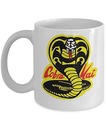 Cobra Kai Dojo Coffee Mug Cup (White) 11oz Karate Kid Movie SnakePoster Gifts Shirt Sticker Merchandise Gear Equipment Accessories - Oma Golf Shirt