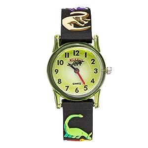 KIDDUS Kinder Uhr für Jungen und Mädchen. Analog Japanischer Quarz. Gummi Armband. Wasserdicht