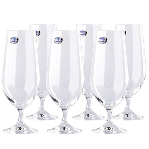Pilsner Glas Set (Premium Leine gratis Crystal Lara Pilsner Bier Glas Set von 6)