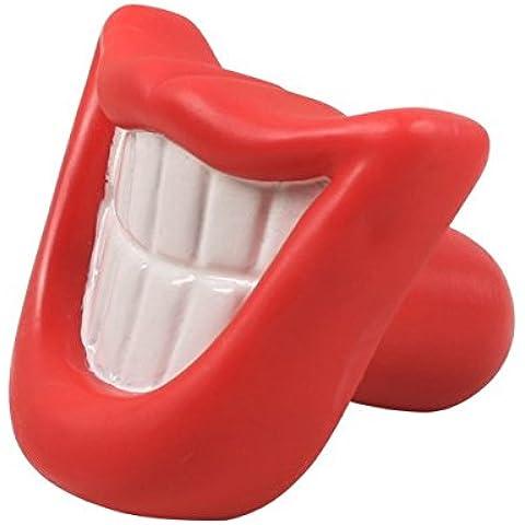 Juguete mordedor para perros Nobleza, de vinilo con forma de sonrisa, largo 9,5 cm