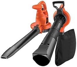 Black+Decker Laubsauger und Bläser GW2810 mit Häcksler, 50l Fangsack und Tragegurt – 2800W – Extrem stark mit variabler Blasgeschwindigkeit – Rückenschonende Benutzung