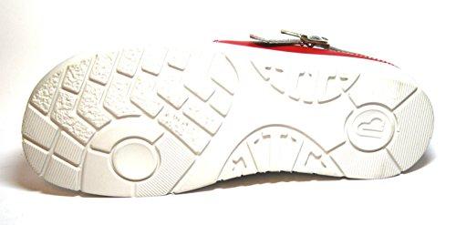 Berkemann Tec-Pro-Brage 09109 Unisex-Erwachsene Clogs Weiß (weiß/rot 124)
