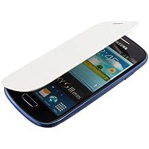 kwmobile Funda potectora práctica y chic FLIP COVER para > Samsung Galaxy S3 Mini < en blanco