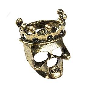 Anillo de Calavera con Corona Skull Crown de Metal