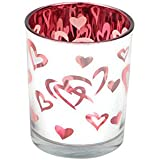 Imperial Gifts Glass Tealight Candle Holder (6 Cm X 5 Cm X 5 Cm, Red, IGRS 64)