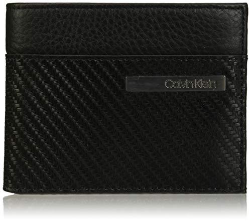 Calvin Klein Herren Carbon Leather 10cccoinpass Schultertasche, Schwarz (Black), 1.9x12.4x9.5cm