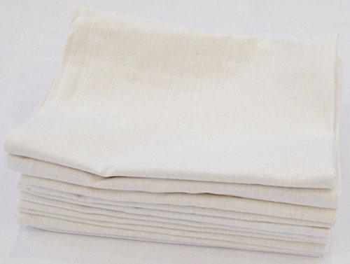 Bertsch Hotelwäsche Geschirrtücher aus Halbleinen, 45% Baumwolle, 55% Leinen, Weiß, 50 x 70 cm, 10